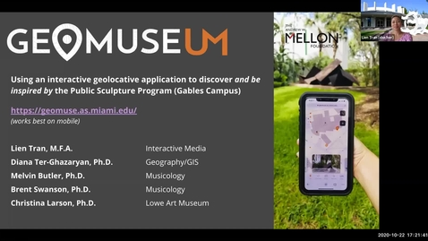 Thumbnail for entry GeoMuseUM: Geolocative App of Campus Public Sculptures used to Sculpt Innovative Curriculum and Music (2020 Faculty Showcase)