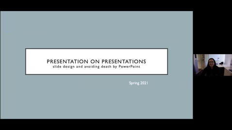 Thumbnail for entry Presentation on Presentations (Creative Studio presents...)