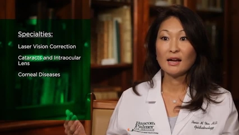 Thumbnail for entry Dr. Sonia Yoo discusses LASIK at Bascom Palmer
