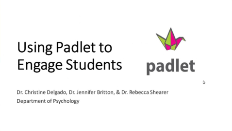 Thumbnail for entry Using Padlet to Engage Students (2020 Faculty Showcase)