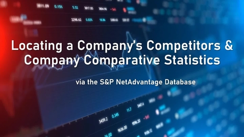 Thumbnail for entry Locating a Company's Competitors & Company Comparative Statistics