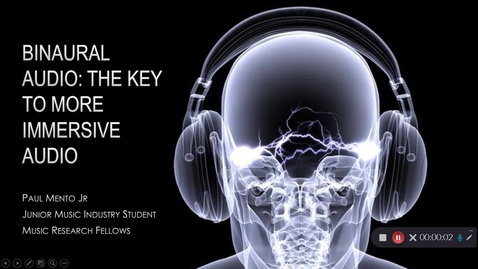 Thumbnail for entry Paul Mento Jr_ Binaural Audio: The Key to More Immersive Audio