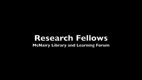 Thumbnail for entry Research Fellows Interviews