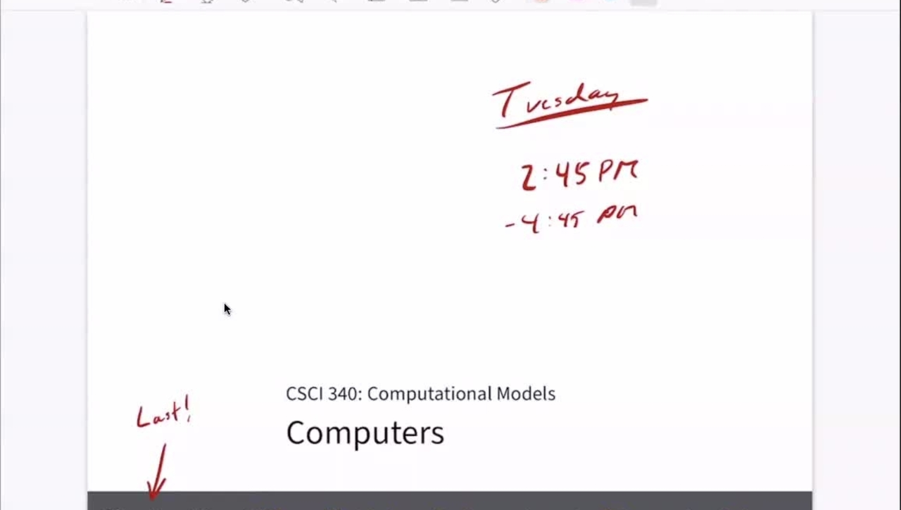 Chapter 25: Computers [Apr 27] [CSCI 340.50]