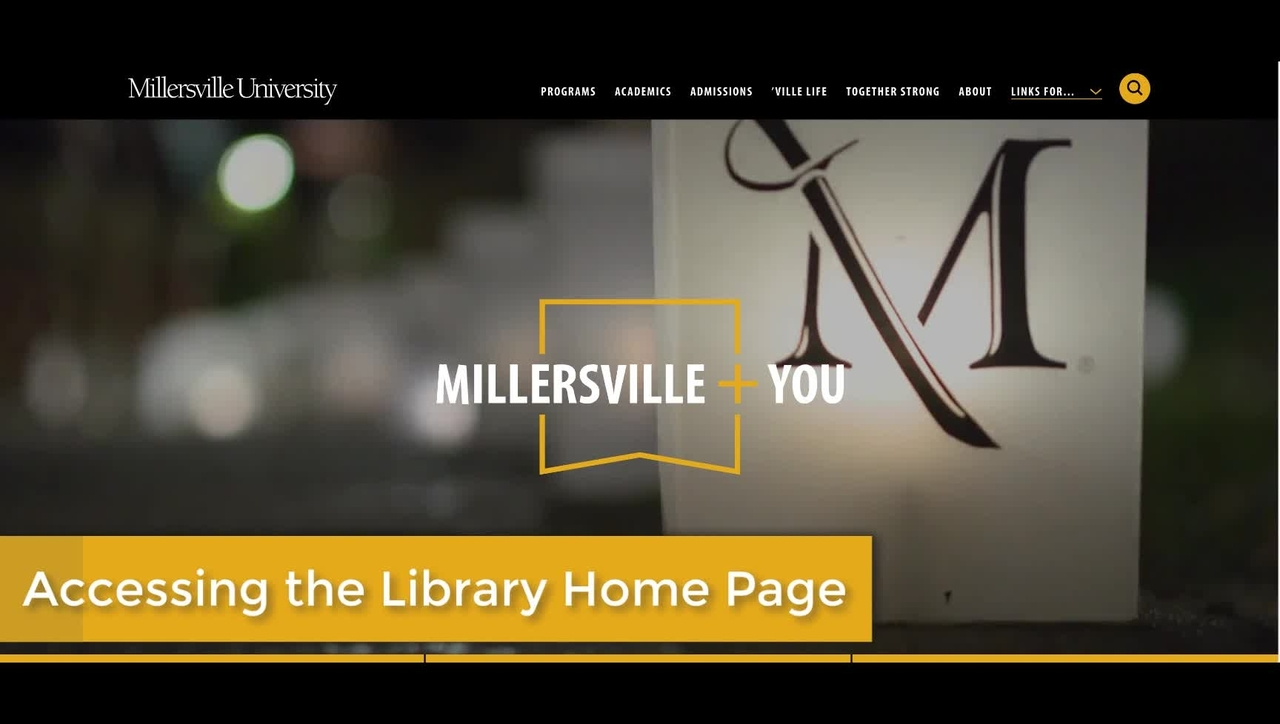 How to get to the McNairy Library website