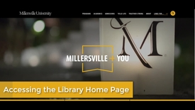 Thumbnail for entry How to get to the McNairy Library website