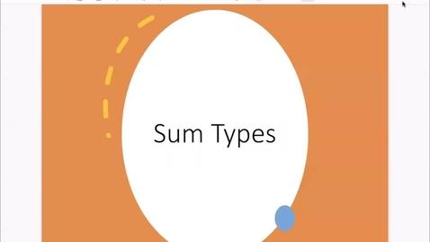 Thumbnail for entry Basic Types: Algebraic Data Types [Feb 23] [CSCI 330.50]