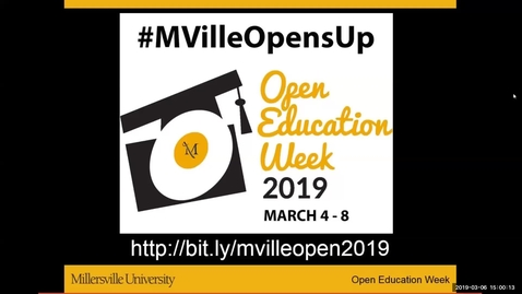 Thumbnail for entry Expanding OER With Open Pedagogy - #MVilleOpensUp - 3_6_Afternoon Session
