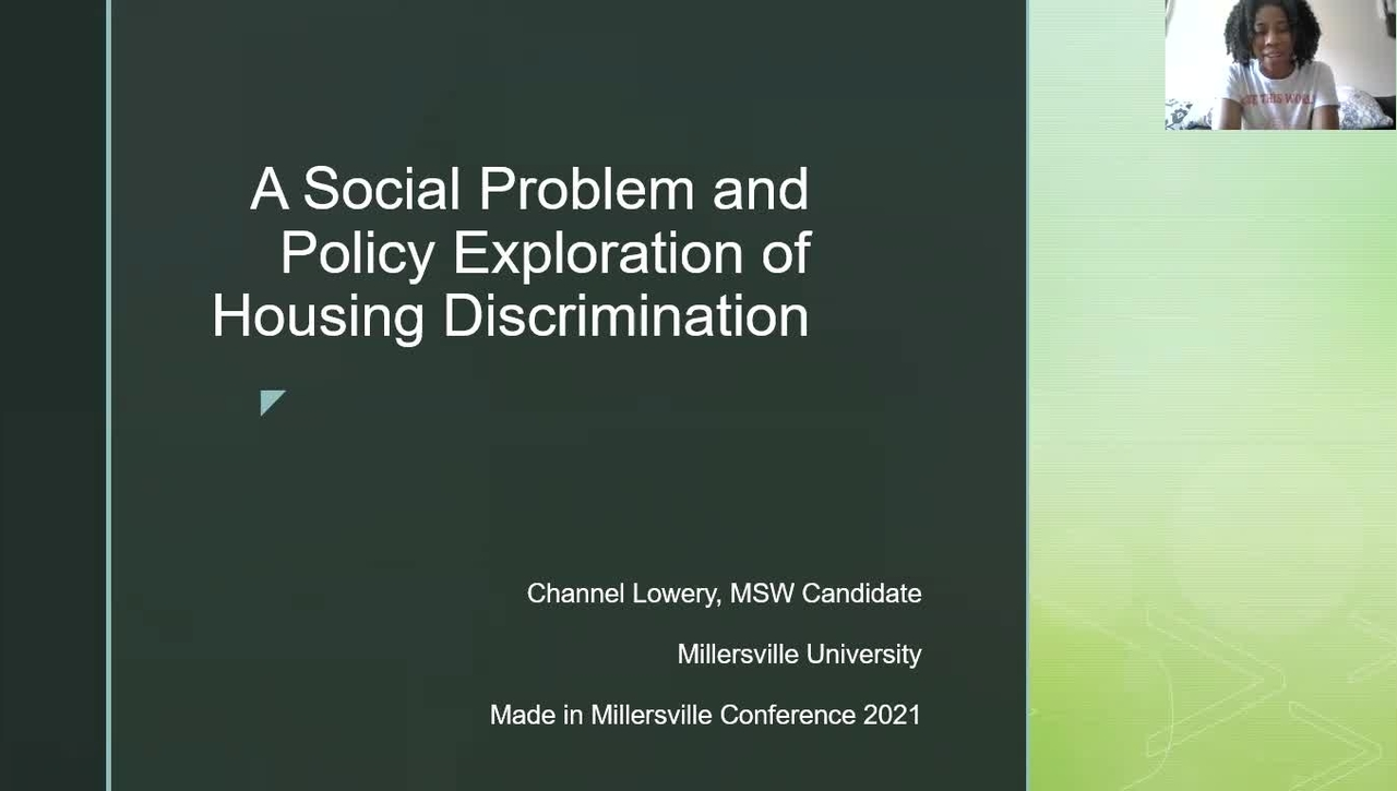 Channel_Lowery A Social Problem and Housing Exploration of Housing Discrimination