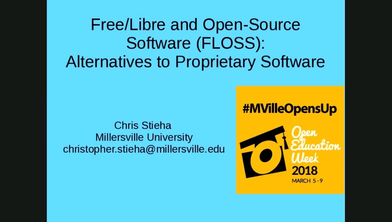 MU Opens Up: Free/Libre and Open-Source Software (FLOSS)