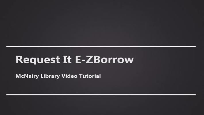 Request it E-ZBorrow
