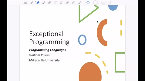 Thumbnail for entry Exceptional Programming [Apr 22] [CSCI 330.50]