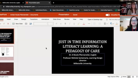 Thumbnail for entry Just In Time Information Literacy Learning: A Pedagogy of Care