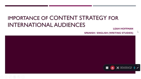 Thumbnail for entry Leah_Hoffman_Importance of Content Strategy for International Audiences
