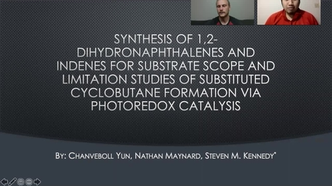 Thumbnail for entry Chanveboll Yun and Nathan Maynard Photoredox Catalysis