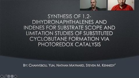 Thumbnail for entry Chanveboll Yun and Nathan Maynard Photoredox Catalysis