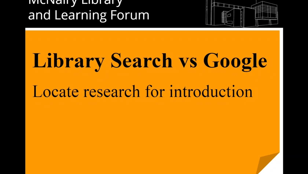 Library Search vs Google