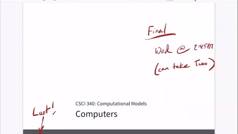 Thumbnail for entry Chapter 25: Computers [Apr 27] [CSCI 340.50A]