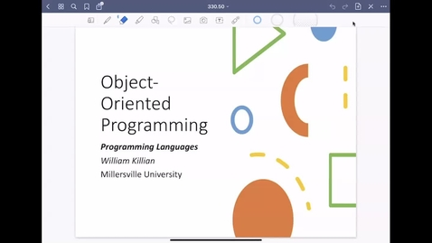 Thumbnail for entry Object-Oriented Programming [Apr 20] [CSCI 330.50]