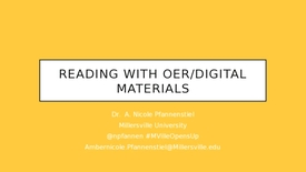 Thumbnail for entry MU Opens Up: Reading with OER/Digital Materials