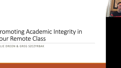 Thumbnail for entry Promoting Academic Integrity Online