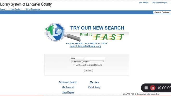 LSLC catalog searching