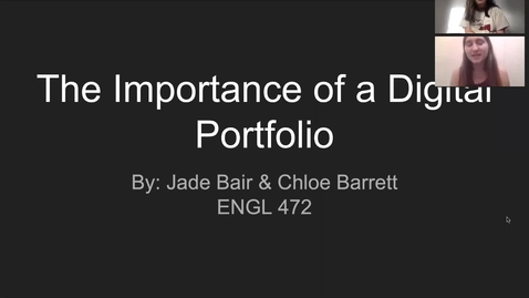 Thumbnail for entry Jade Bair & Chloe Barrett
