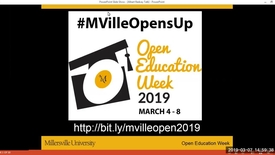Thumbnail for entry Adopting OER - How Does Adoption Influence Future Practices? - #MVilleOpensUp - 3_7_Afternoon Session