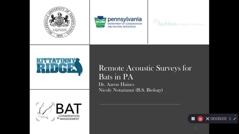 Thumbnail for entry Nicole _Notarianni Remote Acoustic Surveys for Bats in PA