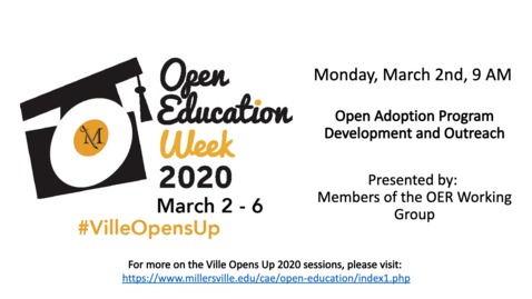 Thumbnail for entry Open Adoption Program Development and Outreach - #VilleOpensUp 2020 3_2_Morning Session