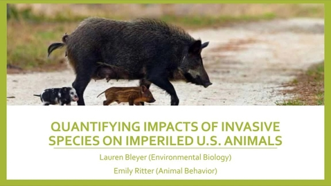 Thumbnail for entry Quantifying Impacts of Invasive Species on Imperiled U.S. Animals