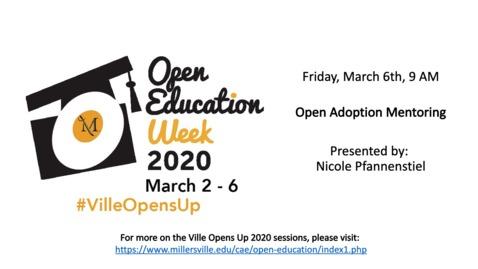 Thumbnail for entry Open Adoption Mentoring - #VilleOpensUp 2020 3_6_Morning Session