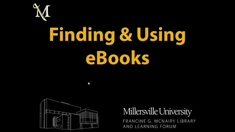 Thumbnail for entry Finding & Using eBooks