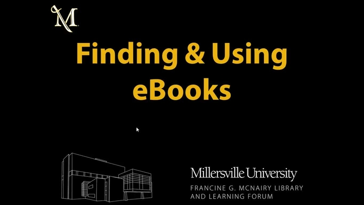 Finding & Using eBooks