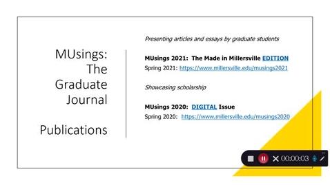 Thumbnail for entry MUsings Grad Journal4 Made in MU
