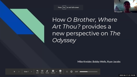 Thumbnail for entry Comparing the Odyssey to O Brother Where Art Thou