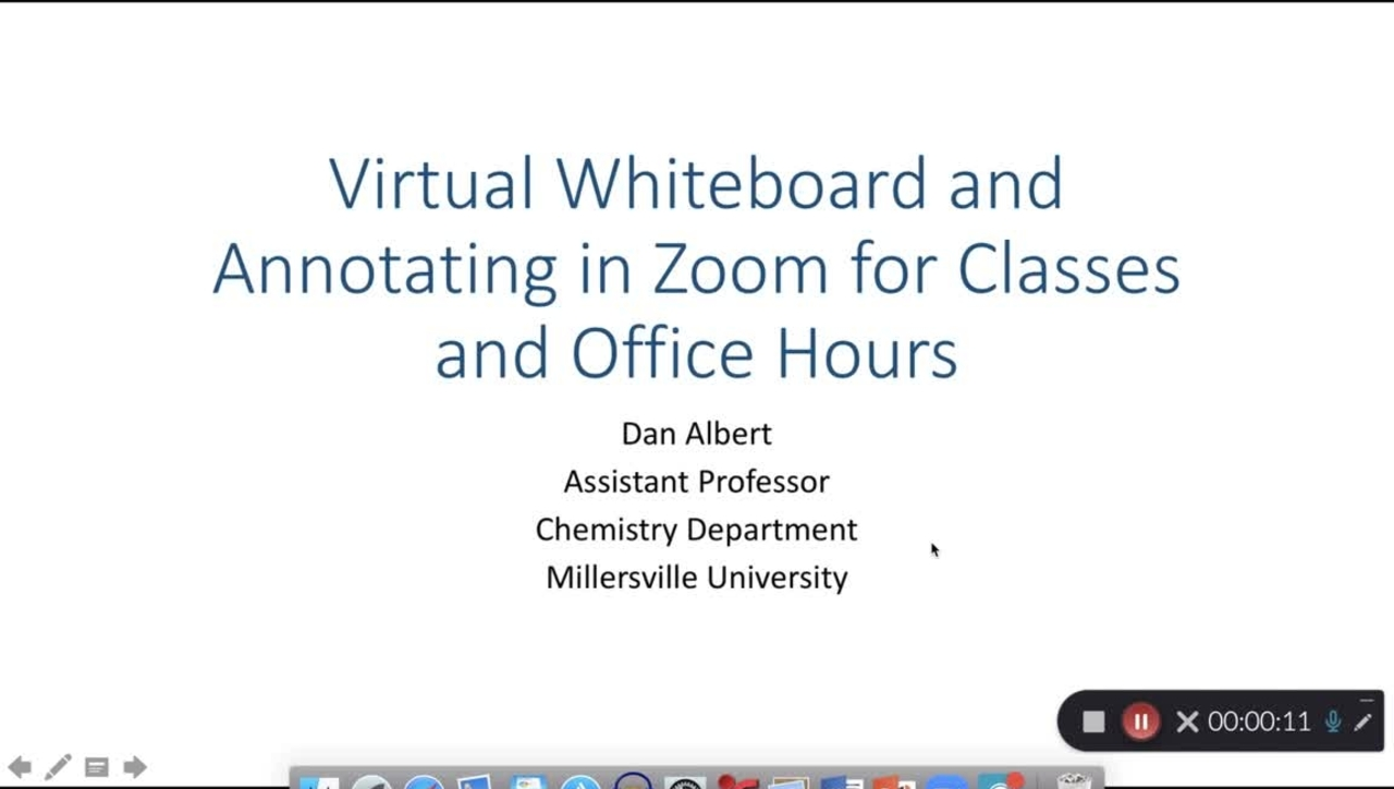 Virtual Whiteboard and Annotating in Zoom