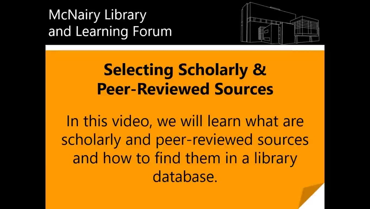 Selecting Scholarly & Peer-Reviewed Sources in Biological Abstracts