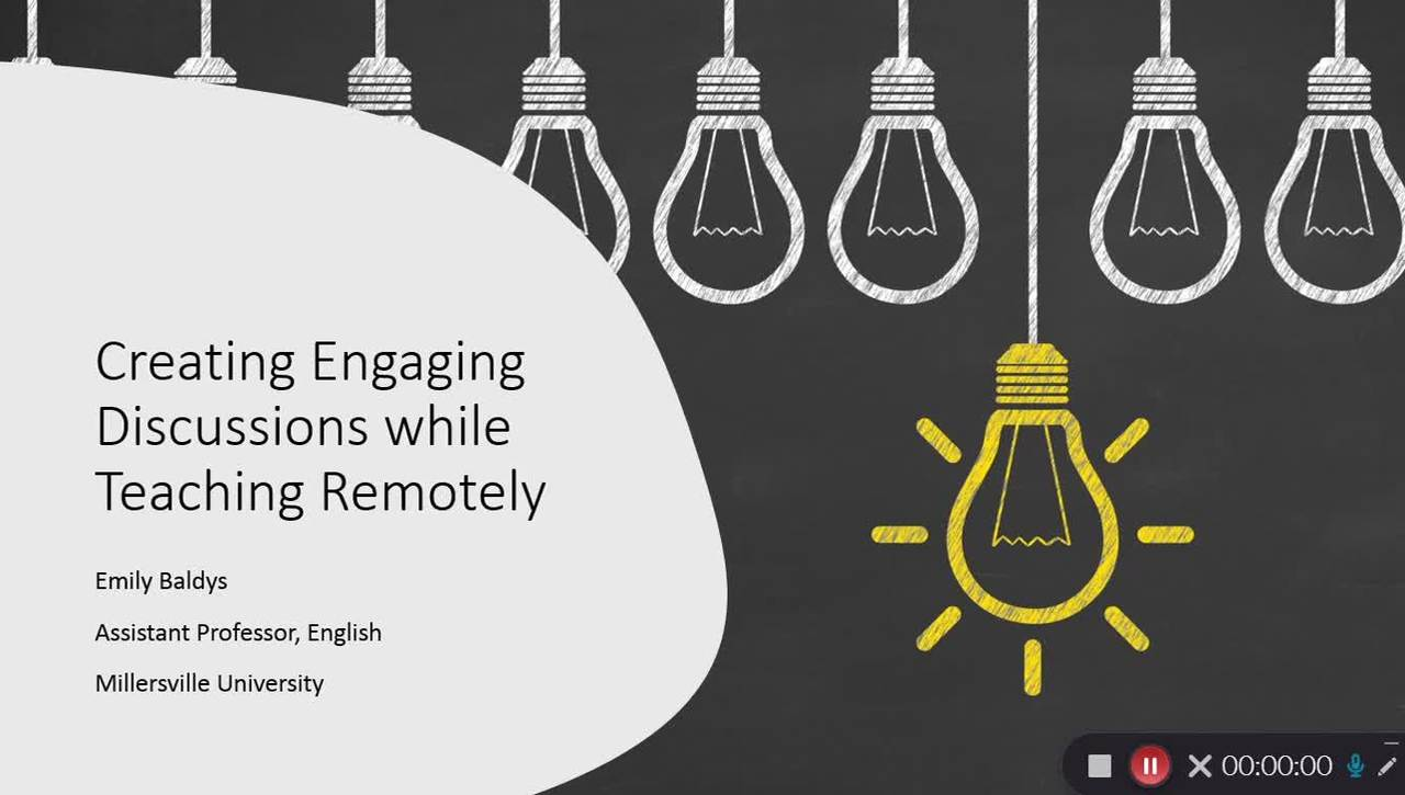 Creating Engaging Discussions While Teaching Remotely