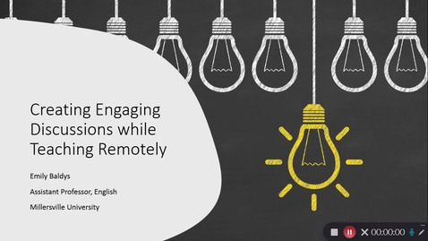 Thumbnail for entry Creating Engaging Discussions While Teaching Remotely
