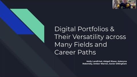 Thumbnail for entry Made in Millersville Presentation: Digital Portfolios & Their Versatility