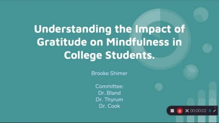 Brooke_Shimer_The Impact of Gratitude on Mindfulness in College Students