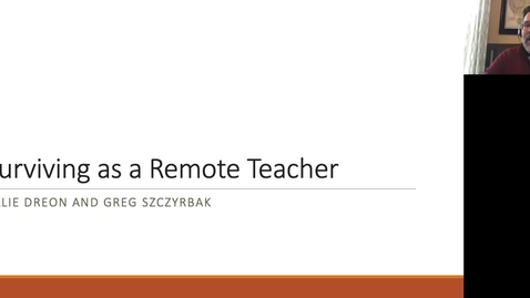 Thumbnail for entry Surviving as a Remote Teacher