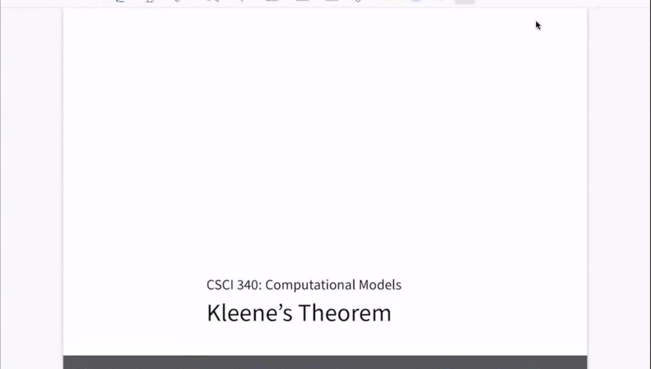 Chapter 07: Kleene's Theorem [Feb 16] [CSCI 340.50A]