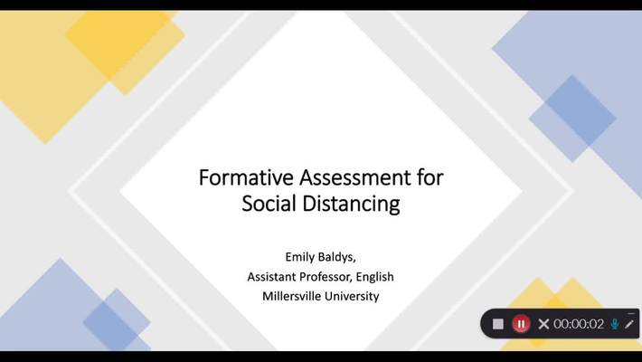Socially Distanced Formative Assessment