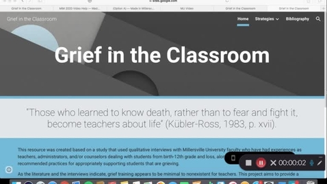 Thumbnail for entry Ginger_Bradbury_Grief in the Classroom