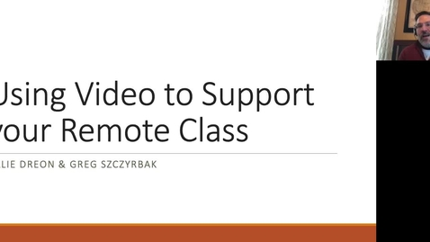 Thumbnail for entry Using Video to Support your Remote Class