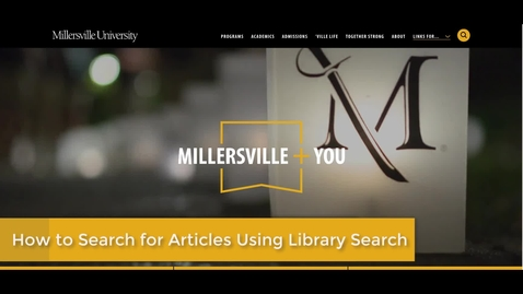 Thumbnail for entry How to search for articles using library search