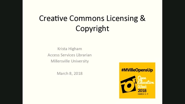 MU Opens Up: Creative Commons Licensing & Copyright