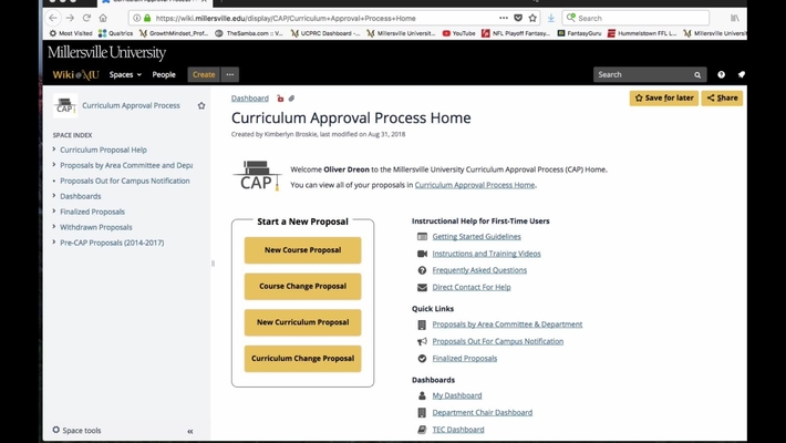 Introduction to CAP: Millersville Digital Curriculum Approval Process